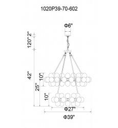 Arya 70 Light  Chandelier with Satin Gold finish (1020P39-70-602) - CWI Lighting