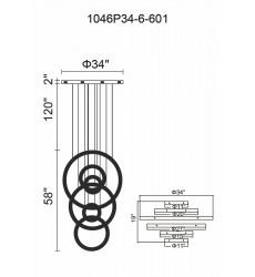 Celina LED Chandelier with Chrome Finish (1046P34-6-601) - CWI Lighting