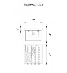 Eternity 1 Light Bathroom Sconce with Chrome finish (5008W8ST-S-1)