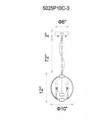 Abia 3 Light Up Mini Pendant with Chrome finish (5025P10C-3) - CWI Lighting