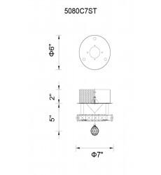 CWI- Ring LED  Flush Mount with Chrome finish (5080C7ST)
