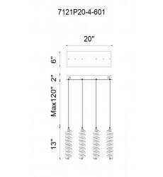 Boreas LED Multi Point Pendant with Chrome finish (7121P20-4-601) - CWI Lighting