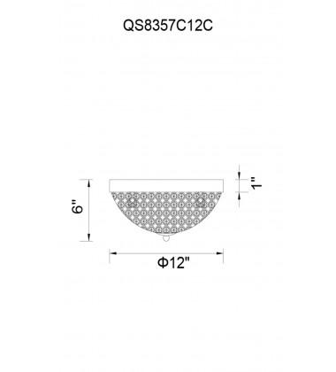 Globe 3 Light Bowl Flush Mount with Chrome finish (QS8357C12C)