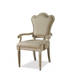 PROVENANCE- UPHOLSTERED BACK ARM CHAIR- LINEN