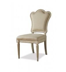 PROVENANCE- UPHOLSTERED BACK SIDE CHAIR- LINEN