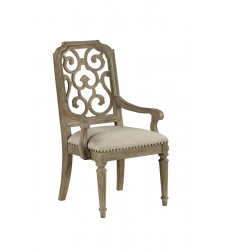 ARCH SALVAGE - TRISTAN FRET BACK ARM CHAIR