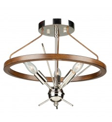 Abbey 3 LT Semi Flush (AC11553PN)
