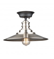 Broxton 1 LT Metal Shade Semi Flush (AC11664BN)