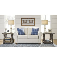 Ashley - Adderbury Loveseat - Bone ( 1440335 )