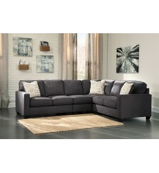 Ashley - Alenya Series 16601 Sectional Sofa - Charcoal
