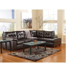 Ashley - Alliston Series 20101 Sectional Sofa - Chocolate