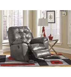 Ashley - Alliston 20102 Rocker Recliner - Gray (2010225)