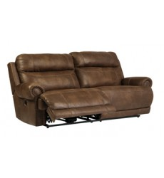 Ashley - Austere 38400 2 Seat Reclining Power Sofa - Brown (3840047)