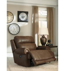 Ashley - Austere Zero Wall Power Wide Recliner - Brown ( 3840082 )