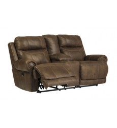 Ashley - Austere DBL REC PWR Loveseat w/Console - Brown ( 3840096 )