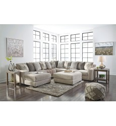 Ashley - Ardsley Series 39504 Sectional Sofa - Pewter