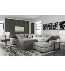 Ashley - Marsing Nuvella  41902 Armless Sofa Sleeper - Slate(4190271)