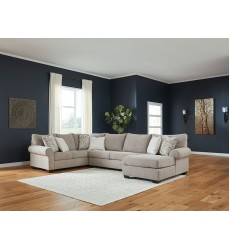 Ashley - Baranello Series 51503 Sectional Sofa - Stone