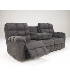 Ashley - Acieona 58300 Reclining Sofa with Drop Down Table - Slate (5830089)