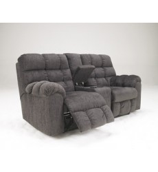 Ashley - Acieona 58300 DBL Rec Loveseat w/Console - Slate (5830094)