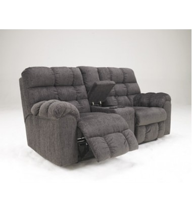 Ashley - Acieona 58300 Double Reclining Loveseat with Console - Slate (5830094)