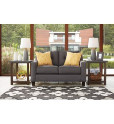 Ashley - Aldie Nuvella® Loveseat - Gray ( 6870235 )