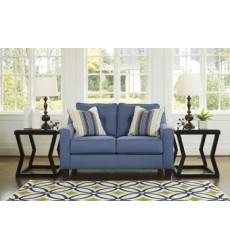 Ashley - Aldie Nuvella® 68703 Loveseat - Blue (6870335)