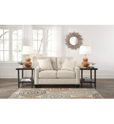 Ashley - Aldie Nuvella® Loveseat - Sand ( 6870535 )