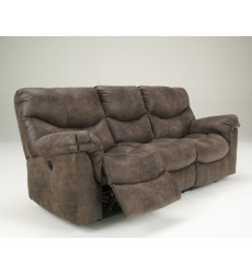 Ashley - Alzena 71400 Reclining Power Sofa - Gunsmoke (7140087)