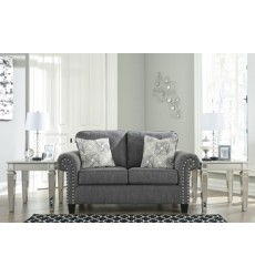 Ashley - Agleno Loveseat - Charcoal ( 7870135 )