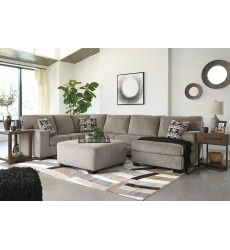 Ashley - Ballinasloe Series 80702 Sectional Sofa - Platinum