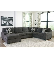 Ashley - Ballinasloe Series 80703 Sectional Sofa - Smoke