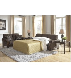 Ashley - Miltonwood  85506 Queen Sofa Sleeper - Teak(8550639)
