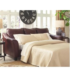 Ashley - Fortney 92406 Sofa Chaise Queen Sleeper - Mahogany (9240668)