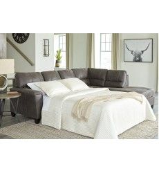 Ashley - Navi  94002 LAF Sofa Sleeper - Smoke(9400269)