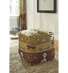 Ashley - Abner A1000206 Pouf - Multi (A1000206)