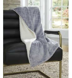 Ashley - Asaka A1000736 Throw (3/CS) - Gray (A1000736)