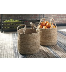 Ashley - Brayton A2000094 Basket Set (2/CN) - Natural (A2000094)