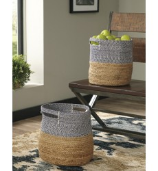 Ashley - Parrish A2000097 Basket Set (2/CN) - Natural/Blue (A2000097)
