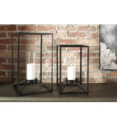 Ashley - Dimtrois A2000133 Lantern Set (2/CN) - Black (A2000133)