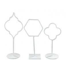Ashley - Acotas Photo Holder (Set of 3) (2/CS) - White ( A2000144 )
