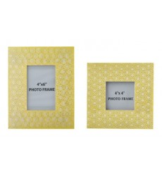 Ashley - Bansi Photo Frame (Set of 2) (2/CS) - Yellow ( A2000149 )