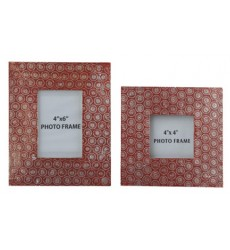 Ashley - Bansi Photo Frame (Set of 2) (2/CS) - Orange ( A2000150 )