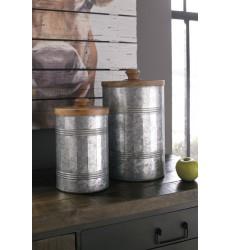 Ashley - Divakar A2000174 Jar Set (2/CN) - Antique Gray (A2000174)