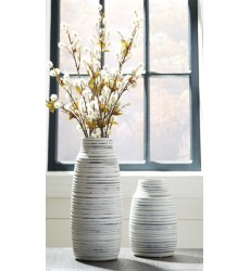 Ashley - Donaver A2000210 Vase Set (2/CN) - Gray/White (A2000210)
