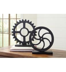 Ashley - Dermot Sculpture Set (2/CN) - Antique Black ( A2000254 )