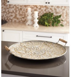 Ashley - Didina Tray - Cream/Gold Finish ( A2000256 )