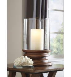 Ashley - Dougal A2000260 Candle Holder - Brown (A2000260)