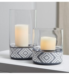 Ashley - Dornitilla A2000261 Candle Holder Set (2/CN) - Black/White (A2000261)