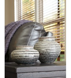 Ashley - Devonee Jar Set (2/CN) - Antique Gray ( A2000265 )